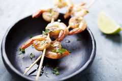 Free Grilled Prawns Stock Photography - 21792862