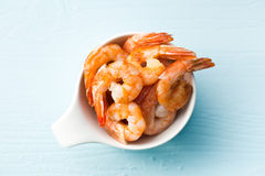 Grilled prawns Royalty Free Stock Images