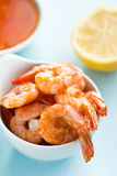 Grilled prawns Royalty Free Stock Image