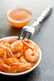Grilled prawns Stock Photography