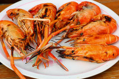 Grilled prawns Royalty Free Stock Photography
