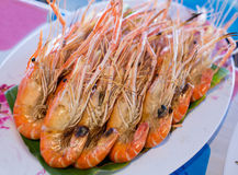 Grilled prawns Stock Photos