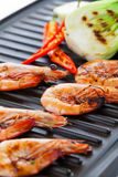 Grilled prawns Royalty Free Stock Photos