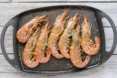 Grilled prawns Stock Photo