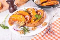 Grilled pumpkin sliced Stock Photos