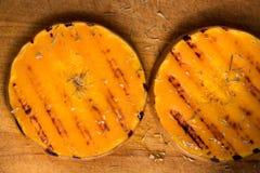 Grilled pumpkin stock photos