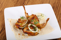 Grilled quail Stock Images
