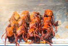 Grilled quail Stock Photos