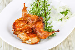 Grilled quail Stock Photography