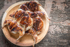 Grilled quails Stock Photography