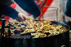 Grilled rökte polsk ost Royaltyfri Fotografi