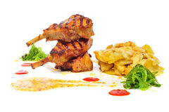 Grilled rabbit legs Royalty Free Stock Photo