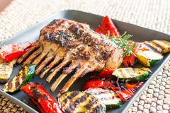 Grilled rack of lamb chops Royalty Free Stock Photography