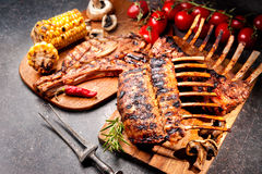 Grilled Rack of lamb Royalty Free Stock Image