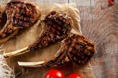 Grilled Rack of Lamb Royalty Free Stock Photo