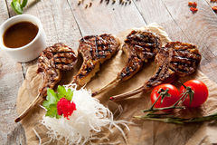 Grilled Rack of Lamb Royalty Free Stock Images