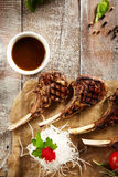 Grilled Rack of Lamb Stock Image