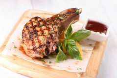 Grilled rack of pork Stock Images