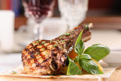 Grilled rack of pork Royalty Free Stock Photography
