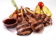Grilled rack of veal Stock Photo