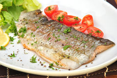 Grilled rainbow trout Stock Photo