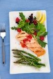 Grilled Raspberry Salmon Stock Photos