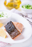 Grilled red fish fillet Royalty Free Stock Photography