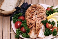 Grilled red fish Stock Images