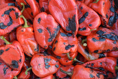 Grilled red peppers Royalty Free Stock Photo