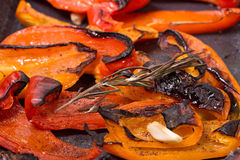 Grilled red sweet pepper Royalty Free Stock Images