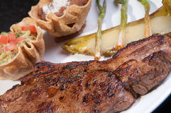 Grilled Rib Eye Steak Royalty Free Stock Images
