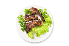 Grilled rib meat Royalty Free Stock Photos