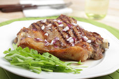 Grilled rib steak Stock Photo