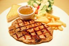 Grilled rib steak Royalty Free Stock Photo