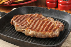 Grilled rib steak Royalty Free Stock Image