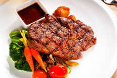 Grilled ribeye steak Royalty Free Stock Photos
