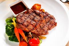 Grilled ribeye steak Royalty Free Stock Photos
