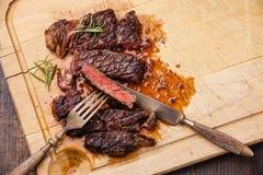 Grilled Ribeye Steak Stock Photos