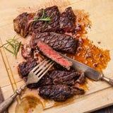Grilled Ribeye Steak Stock Photography