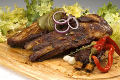 Grilled ribs Royalty Free Stock Photography