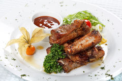 Grilled ribs Royalty Free Stock Photo