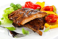 Grilled ribs stock image