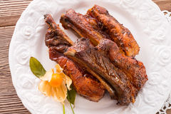 Grilled ribs Stock Images