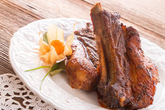 Grilled ribs Stock Photo