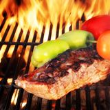 Grilled Ribs with Bell Pepper and tomato Royalty Free Stock Photo