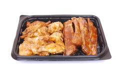 Grilled ribs and chicken Stock Images