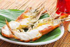 Grilled River Lobster Extra Large Size Royalty Free Stock Photos