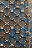 Grilled rolling shutters. Old grilled rolling shutters background Stock Photography