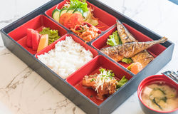 Grilled saba bento Royalty Free Stock Images
