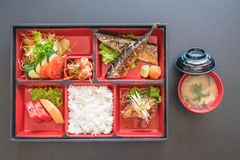 Grilled saba bento Stock Images